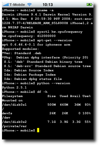 Suche nach Gnu-Programmen in Cydia